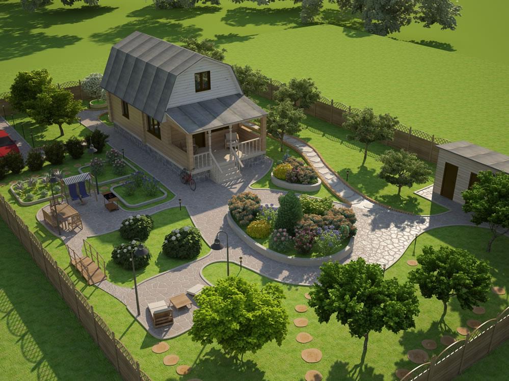 проектирование ландшафтного дизайна загородного участка